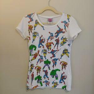 Marvel superhero t-shirt Spider-Man iron man hulk